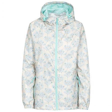 Trespass Womens Waterpoof Packaway Jacket Indulge in White