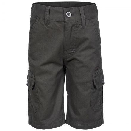 Jarra Kids' Cotton Cargo Shorts in Grey