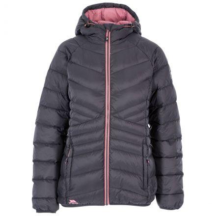 Julieta Women's Hooded Down Jacket in Grey