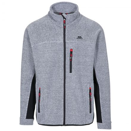 Jynx Men's Fleece Jacket in Light Grey, Front view on mannequin