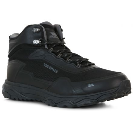 Trespass Mens Walking Boots Waterproof Mid-Cut Kakaraka Black