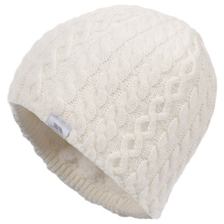 Kendra Women's Knitted Beanie Hat in White