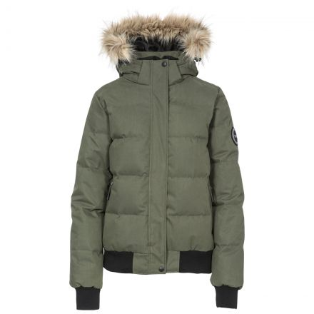 Kendrick Women's DLX Hooded Down Jacket in Khaki