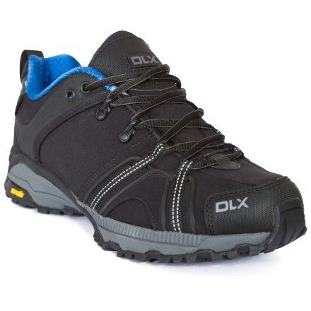 Keyboard Men's DLX Softshell Walking Shoes in Black