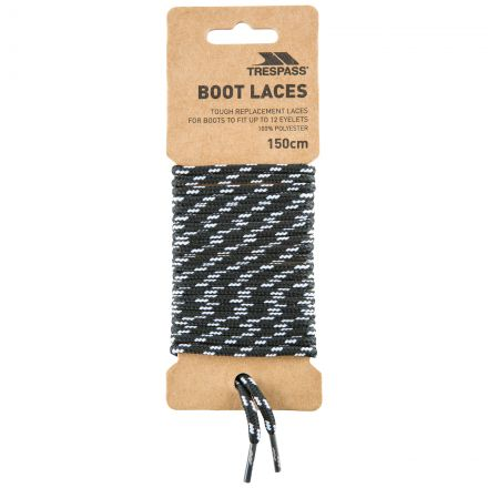Tough Walking Boot Laces 150cm in Black