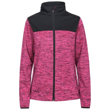 DLX Womens Softshell Jacket Breathable Water Resistant Laverne in Pink