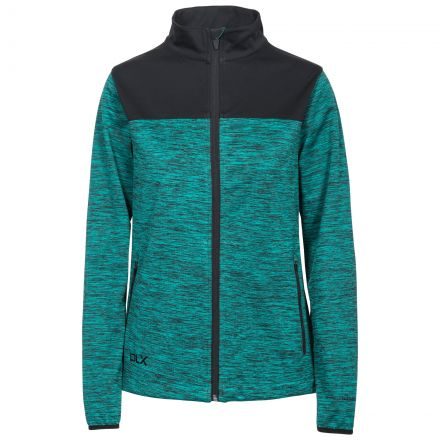 DLX Womens Softshell Jacket Breathable Water Resistant Laverne in Green