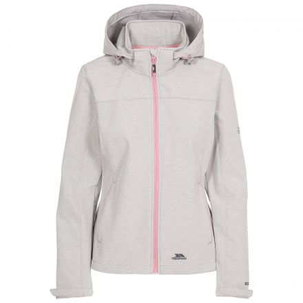 Trespass Womens Softshell Jacket Leah in Light Grey
