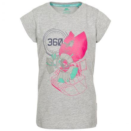 Leia Kids' Printed T-Shirt in Light Grey