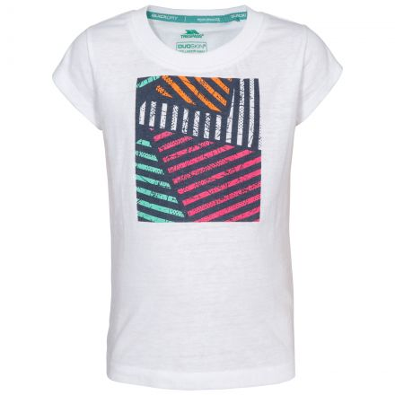 Linnea Kids' Printed T-Shirt in White