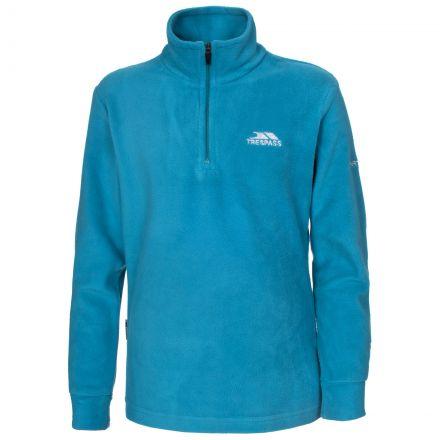 Louviers Kids' Half Zip Fleece in Blue