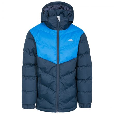 Luddi Kids' Padded Waterproof Jacket in Navy
