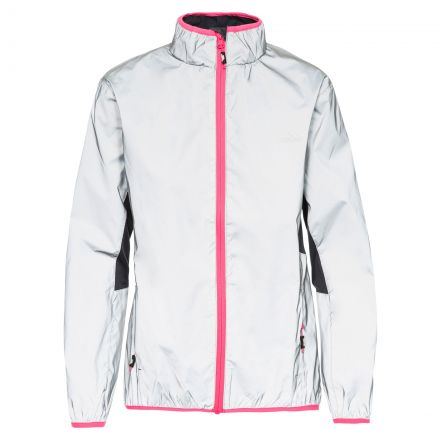 Lumi Women's Reflective Water Resistant Jacket in Light Grey