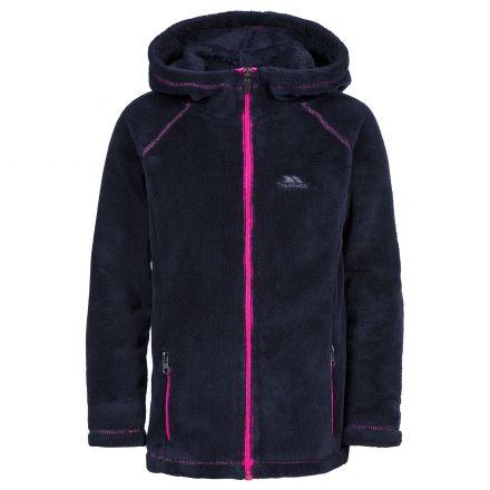 Lysle Kids' Full Zip Fleece Hoodie in Black