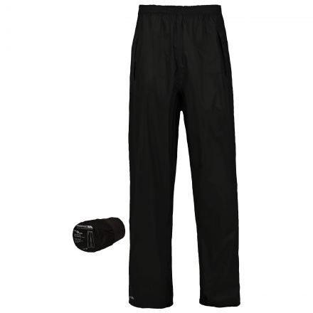 Packa Adults' Packaway Waterproof Trousers in Black