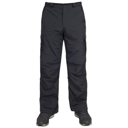 Taro Mens Cargo Trousers in Black