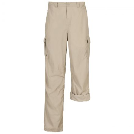 Taro Mens Cargo Trousers in Beige