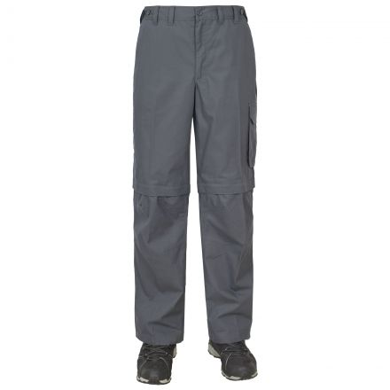 Mallik Men's Zip Off Walking Cargo Trousers in Grey