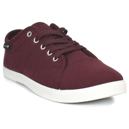 MADDIE Womens Casual Lace Up Shoes in Burgundy