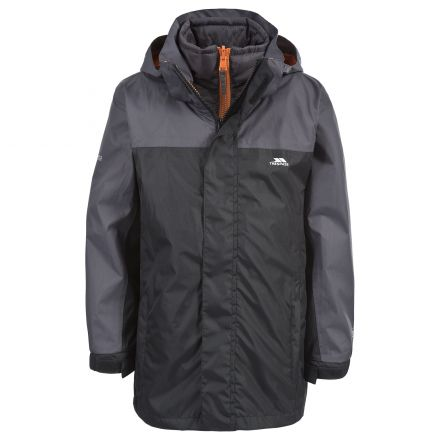 Maddox Kids' 3-in-1 Waterproof Jacket in Black