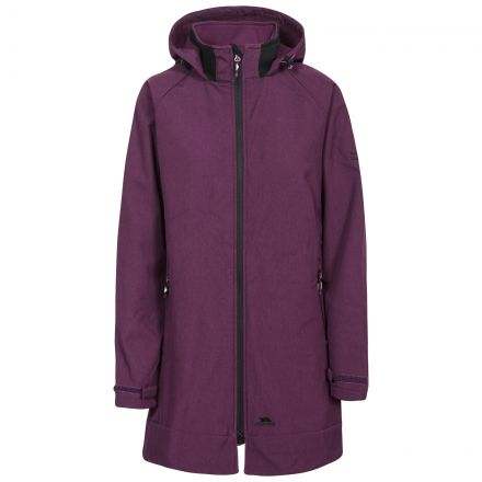 Trespass Womens Softsell Jacket Long Maeve in Purple