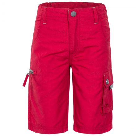 Marty Kids' Cargo Shorts in Red