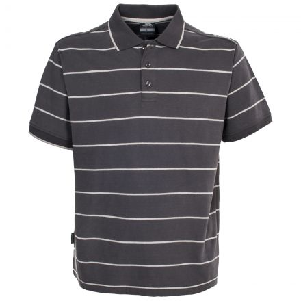 Samani Men's Striped Polo Top in Khaki