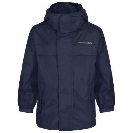 Packa Kids' Waterproof Packaway Jacket in Navy