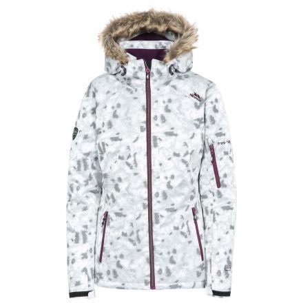 Trespass Women Ski Jacket Hooded Merrion in Grey
