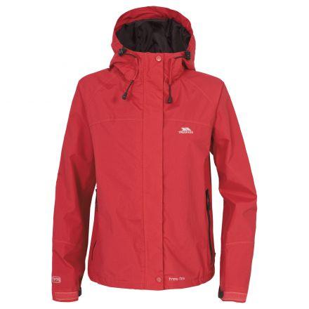 Trespass Womens Waterproof Jacket Hooded Miyake in  Red