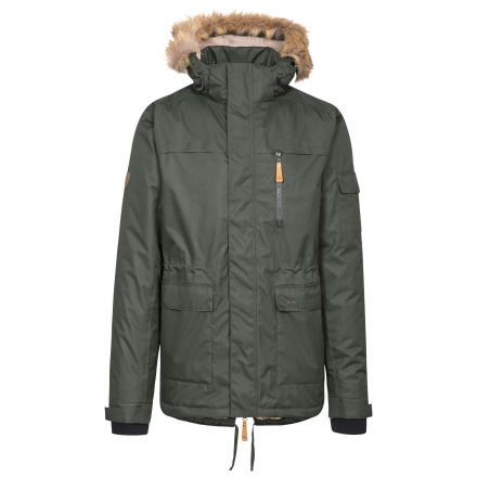 Mount Bear Men's Waterproof Parka Jacket in Khaki
