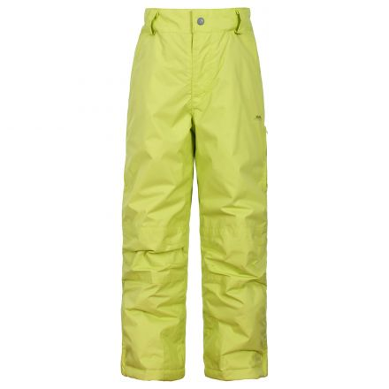 Nando Kids' Insulated Salopettes in Neon Green