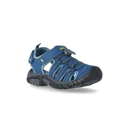 Nantucket Kids' Sandals in Navy, Angled view of footwear