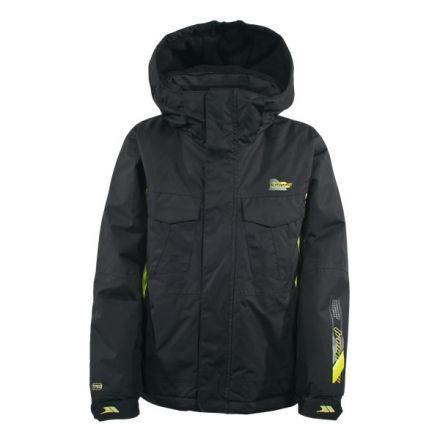 Negasi Boys' Fleece Lined Ski Jacket in Black