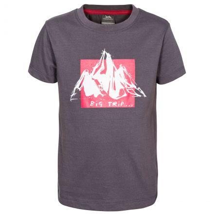 Noa Kids' Printed T-Shirt in Grey