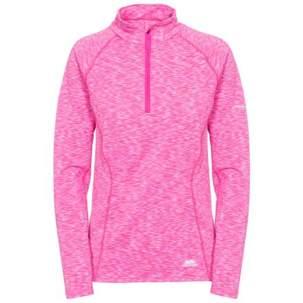 Olina Women's 1/2 Zip Long Sleeve Active Top