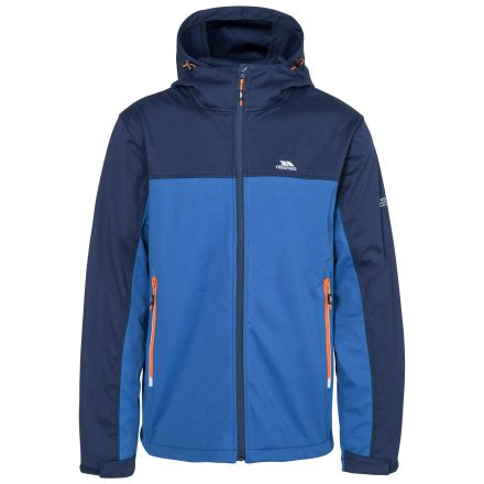 Palin Men's Hooded Softshell Jacket in Navy