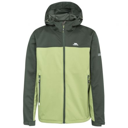 Palin Men's Hooded Softshell Jacket in Khaki