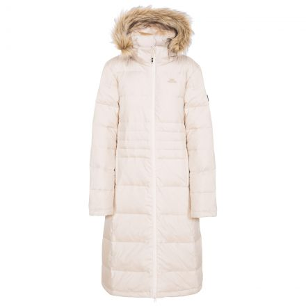 Phyllis Women's Long Down Parka Jacket in White
