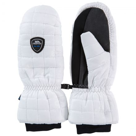 Pikido Adults' Waterproof Mittens in White
