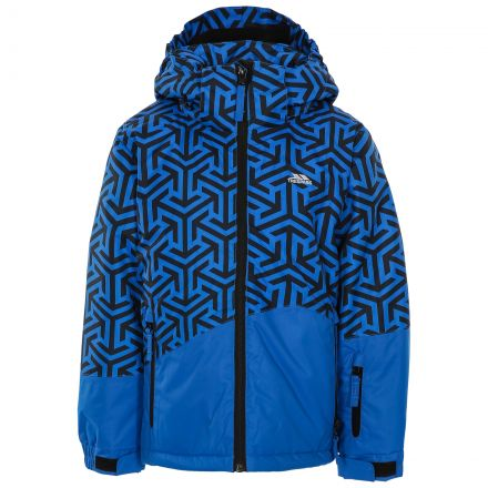 Pointarrow Kids' Printed Ski Jacket in Blue