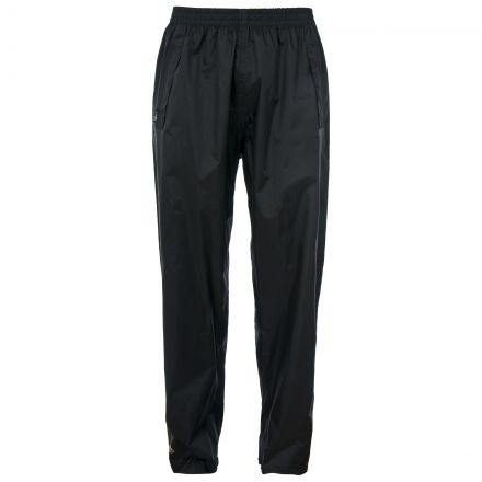 Qikpac Adults' Packaway Waterproof Trousers in Black