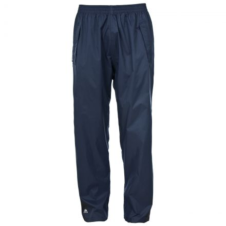 Qikpac Adults' Packaway Waterproof Trousers in Navy