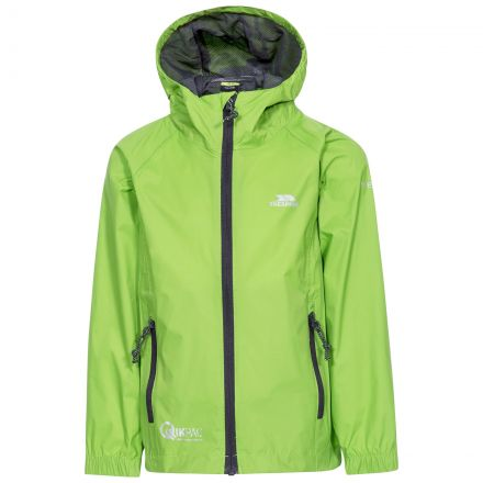 Qikpac Kids' Waterproof Packaway Jacket in Green