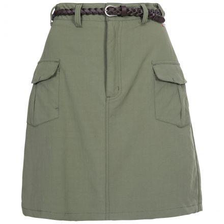 Quora Women's Belted Skirt in Khaki