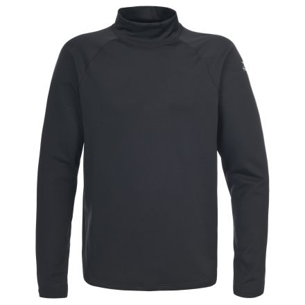 Riddy Men's Quick Dry Long Sleeve Active T-Shirt in Black