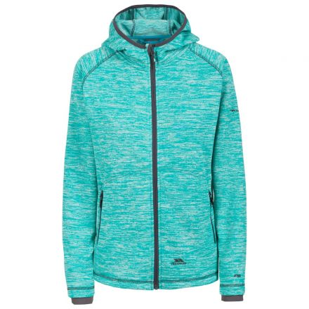 Riverstone Women's Full Zip Fleece Hoodie in Turquoise
