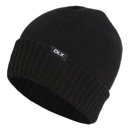 Ronan Adults' DLX Fleece Lined Beanie Hat in Black