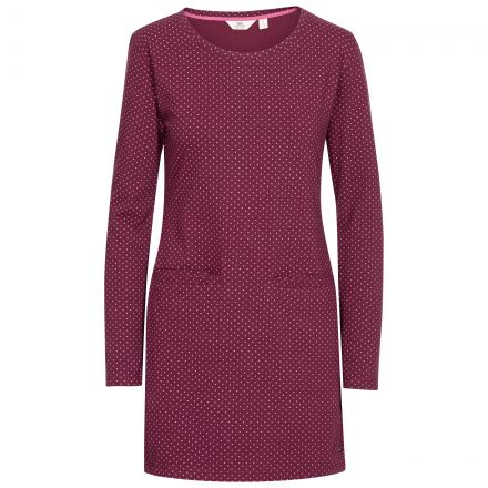 Ronnie Women's Knitted Tunic Dress in Purple