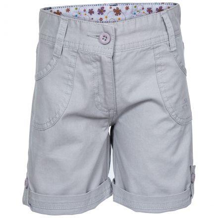 Ronya Kids' Casual Cotton Shorts in Grey